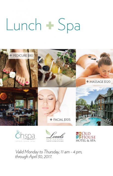 OhSpa's Lunch + Spa Package